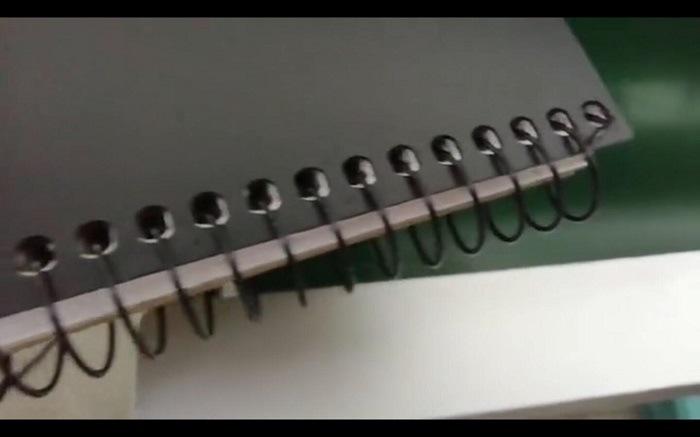 나선형 철사 노트북 의무 기계 Cwh-450