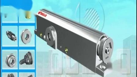 Chiudiporta regolabile in alluminio per porta ignifuga e CE (9036)