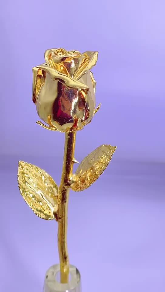 Unión de color rojo con oro 24K (flores) regalo de promoción