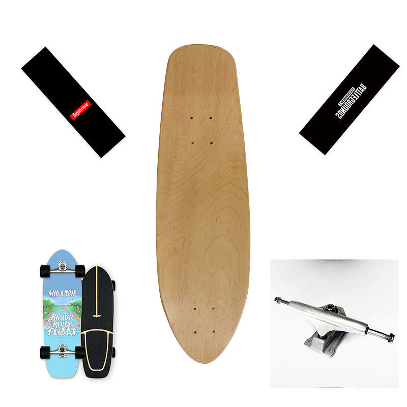 Auf Lager Wood Maple Customized Canadian Maple 30/31/32 Land Surf Skateboard mit CX4/CX7/S7 LKW