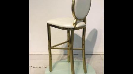 Корпус из нержавеющей стали стеклянный стол Современный маленький бар стол (FD-017T)