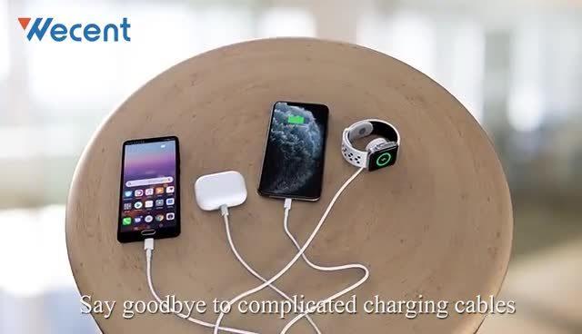 4 in 1 Wireless Fast Charger Netzteil/Telefonzubehör/USB/Ladegerät Smartwatch Ladestation Multi Ladestation für Zubehör für alle Mobile Telefon
