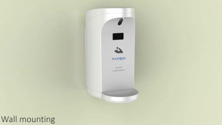 Handsfree schuimrubberen zepdispenser met wandbevestiging voor hotel/toilet/badkamer