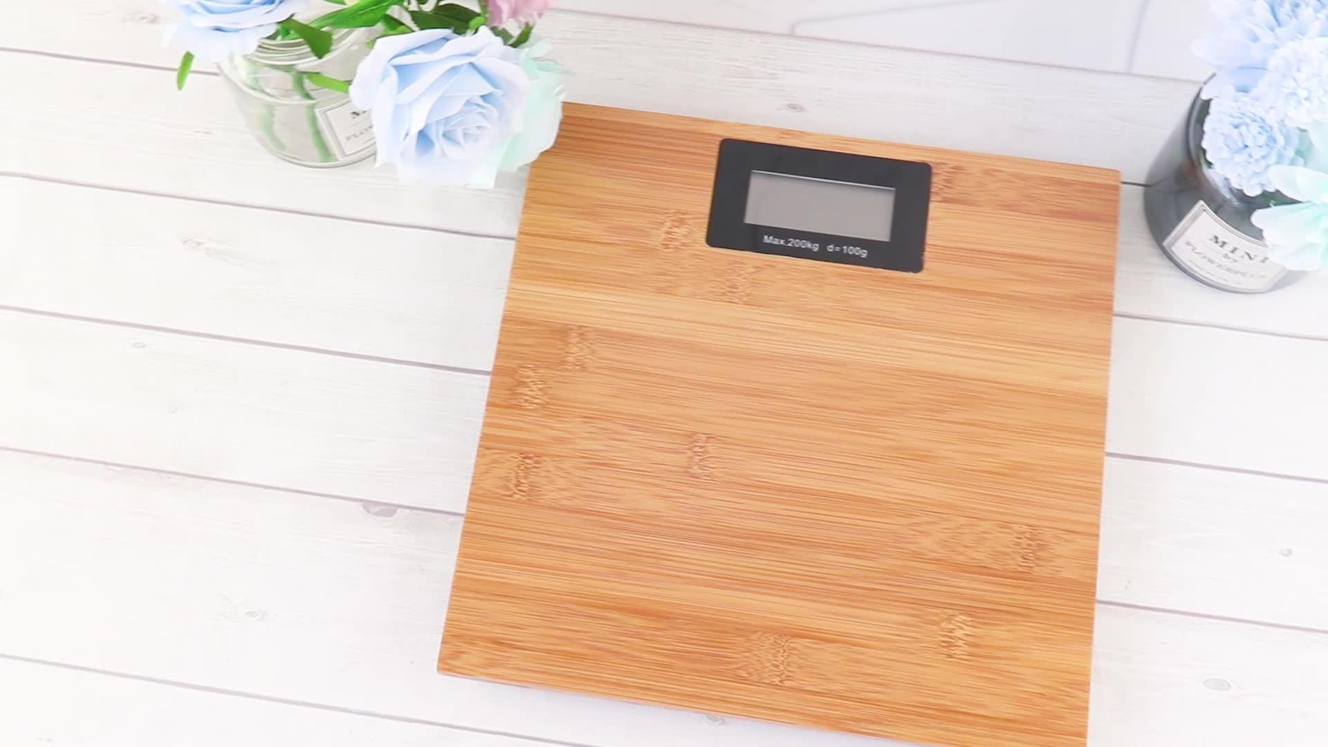 Bamboo Bathroom Weight digitale weegschaal