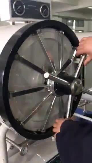 Autoclave de vapor cilíndrico horizontal para uso hospitalario