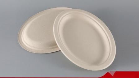 Piatti a gettare biodegradabili e concimabili di ovale della bagassa della canna da zucchero degli articoli per la tavola