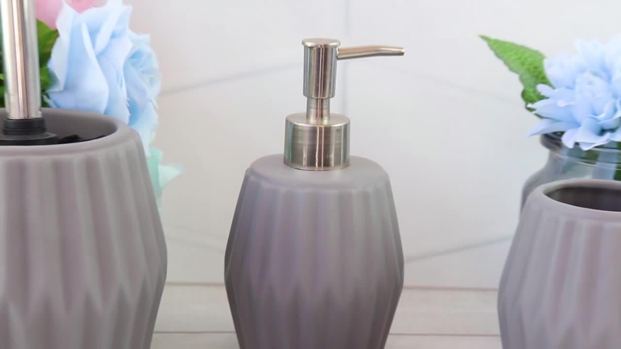 Luxe 4 PCS keramische accessoires Household Hotel Bathroom Set