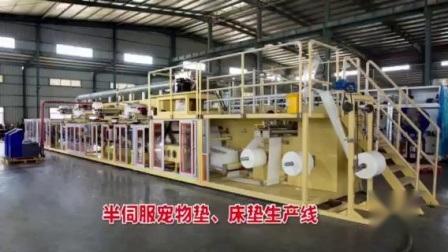 Semi Servo Underpad machine Pet Training Manufacture Line in China