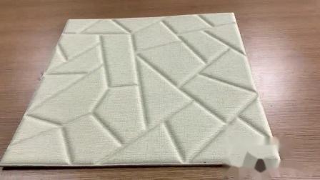 Insonorisées poids léger de papier peint en 3D, revêtement mural de l'intérieur, panneau de cuir