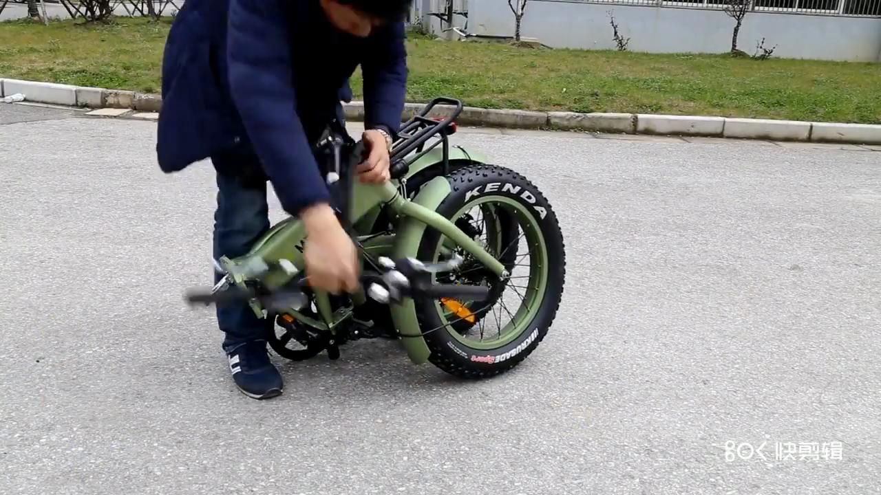48 V500W/750 W 電動自転車販売用 7 速脂肪タイヤ電気 折りたたみ式バイク