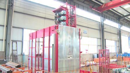 SC200 建設旅客エレベータービル建設用ダブルケージホイスト