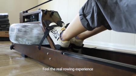 Máquina de remo Equipo de gimnasio Agua El agua de la máquina de remo del Club remero agua Rowerwood