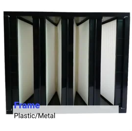 Gran volumen de aire 4 V de los bancos del sistema HVAC forma Marco de plástico filtro de aire HEPA