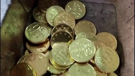 Pièce de monnaie automatique machine de conditionnement d'emballage d'enrubannage de chocolat
