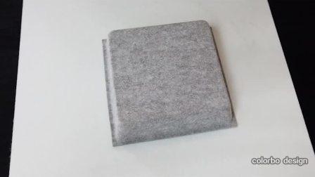 Office Decor 3D Produkt Polyester Faser akustisch schalldicht und feuerfest Fenster