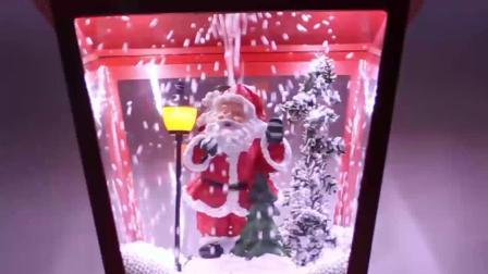 OEM de Lantaarn van het Plastic Muzikale LEIDENE van het Tafelblad van de Scène van Sowman van de Sneeuwvlok Festival van Kerstmis