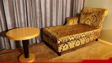 Moderno diseño personalizado de madera cubierta con chapa de madera Hotel Muebles de dormitorio (HD450)