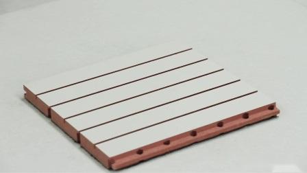 Baumaterial gerillte Holzwand Akustikplatte für das Fitnessstudio