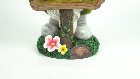 Beeldje van de Gnoom Polyresin van de Werf van de tuin het Decor Bijeengekomen, Kunstmatig Gebeëindigd Mos Wegknippend het DwergStandbeeld van de Hars van de Vinger