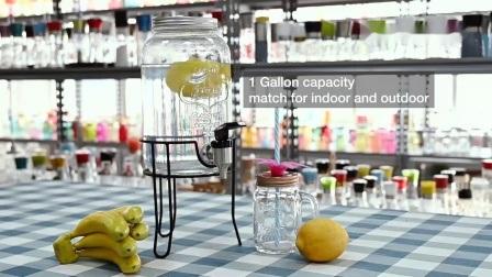 Оптовая торговля квадратный стеклянный диспенсер для напитков с краном