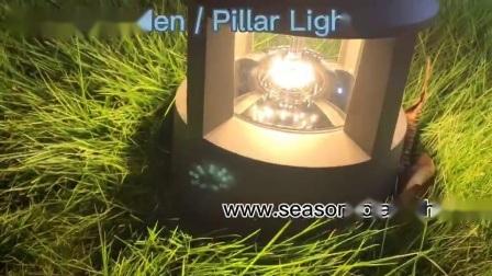 O LED de luz alta de produtos iluminação solar Pilar Solar Exterior de luz para iluminação de terraço com jardim