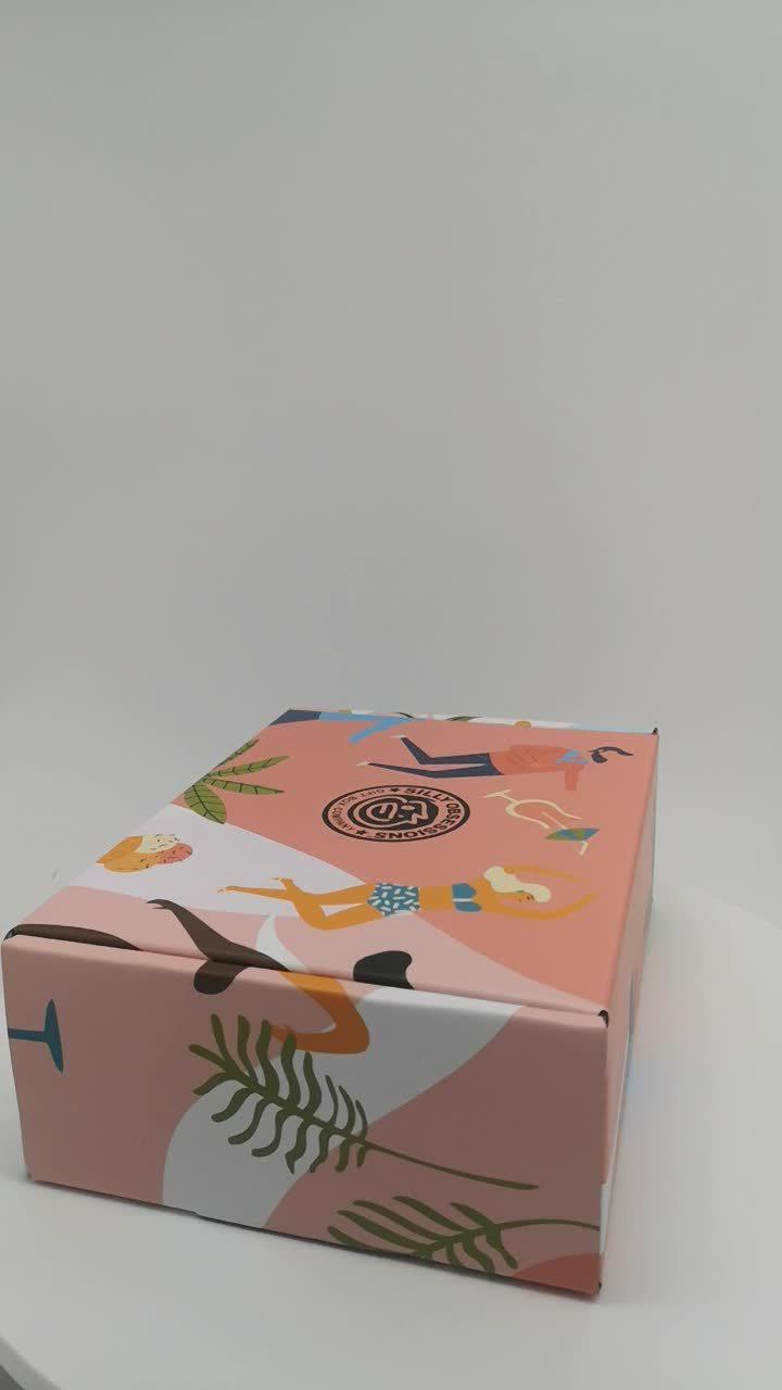 Gegolfde transportdoos voor kleurenafdrukken