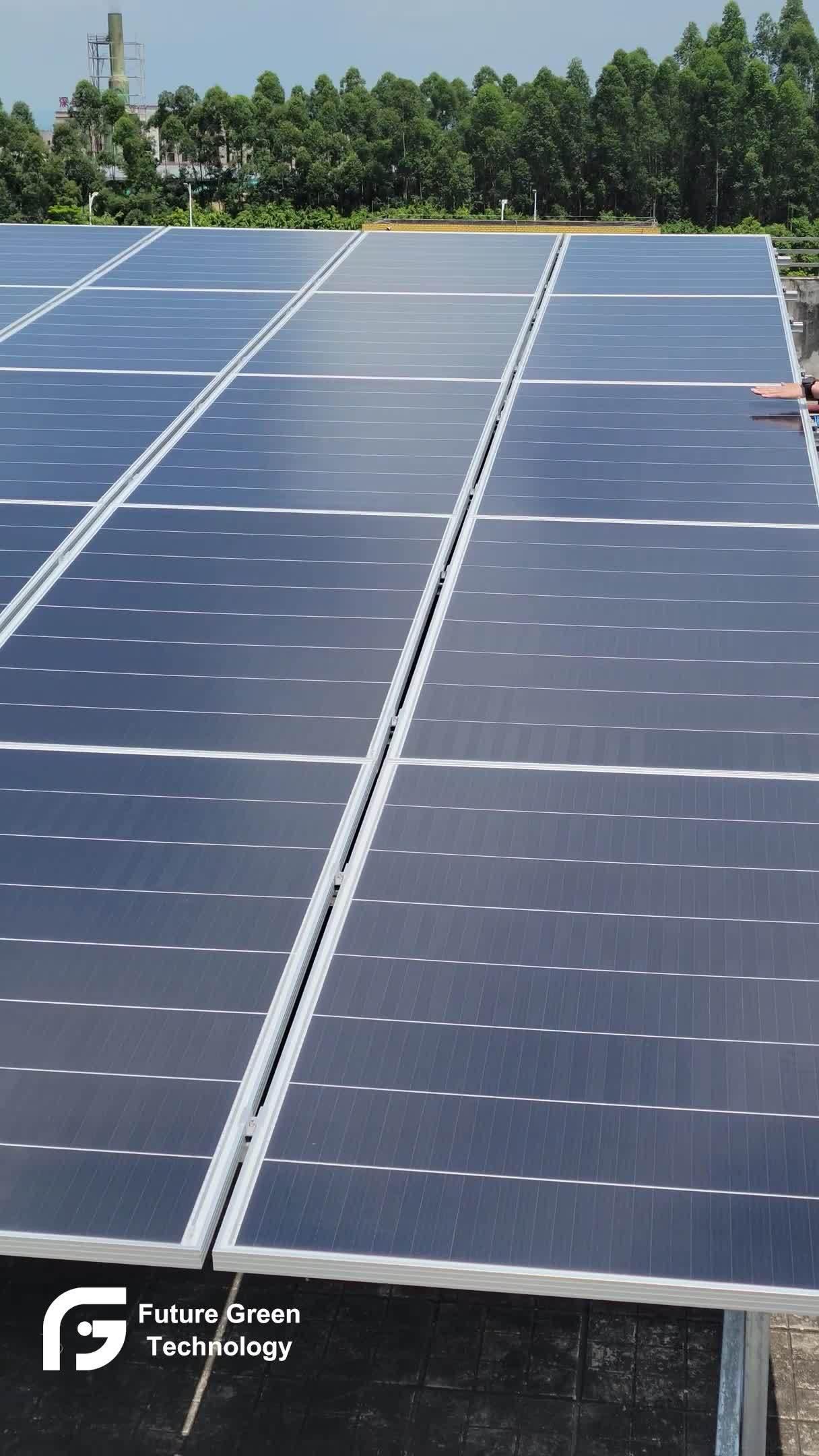 Home Verwendung Schindled monokristalline Panel Power 300W 400W 500W 1000W Energie Solarmodul Preis 10 Kw Zellen