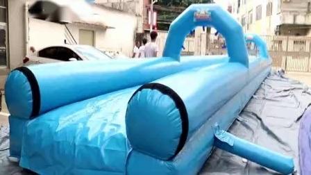 ウォータープール付きダブルレーンスリップ膨張式シティスライド