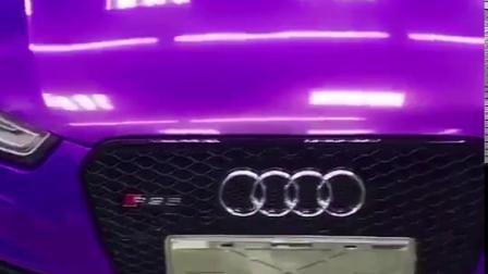 Autocolante de carroçaria completo roxo sem Bolhas Crystal super brilhante de metal PVC Vinil auto-adesiva