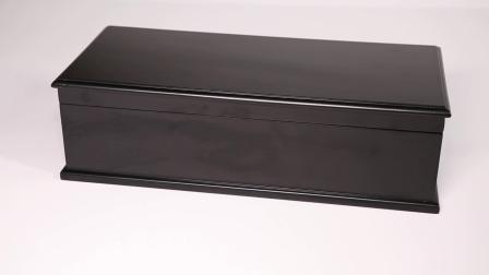 Caja de regalo de madera de caoba rico