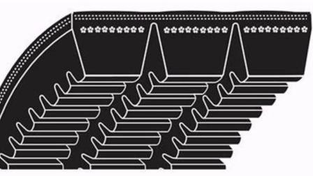El motor de automoción oft Correa de distribución para el coche japonés la correa del motor correas sincrónicas - Ya052