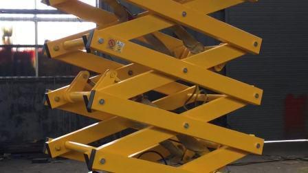 Tabelas de elevação de tesoura de material para a fábrica e depósito