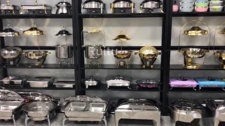 Tampo da coroa de ouro da tampa de vidro portátil em aço inoxidável manter os alimentos quentes fogão mini-prato de agressão panelas a vapor que serve comida Vaporizador Incendiou pote quente