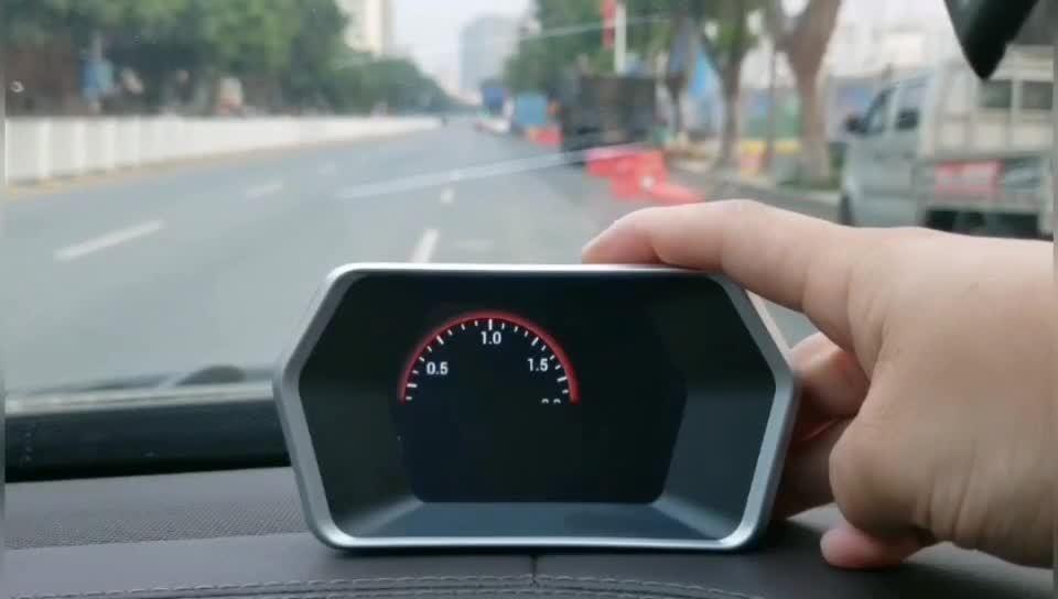 Car OBD2 Gauge GPS Digitales Messgerät Hud P17