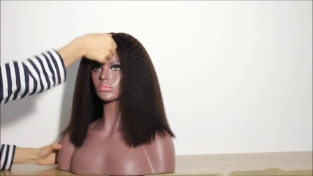 Yvonne Kinky Straight Human Virgin Hair 360 Lace Front Wig