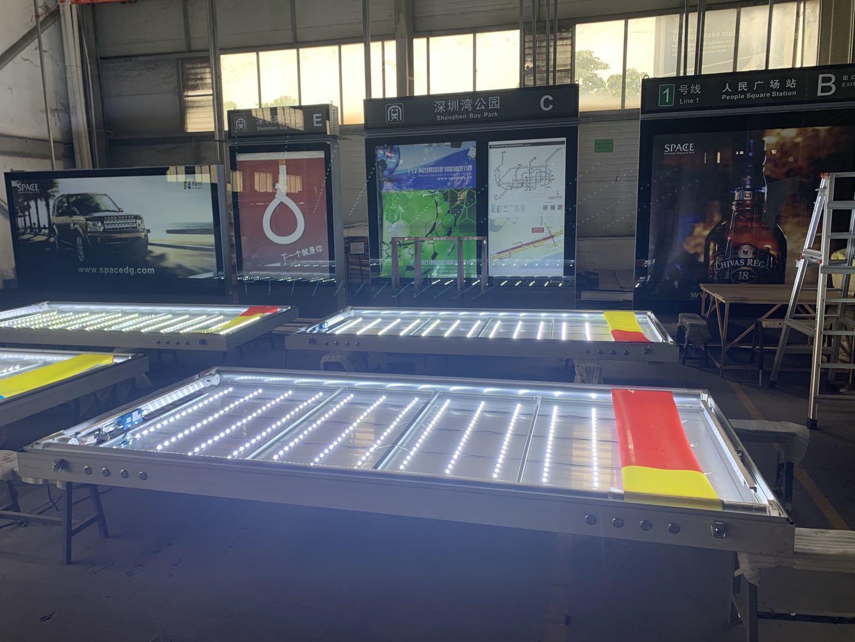 Poster pubblicitario per esterni telaio in alluminio scatola luminosa a scorrimento