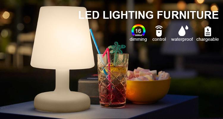 파티용 컬러풀한 테이블 램프와 크리스마스 장식 LED 테이블 램프