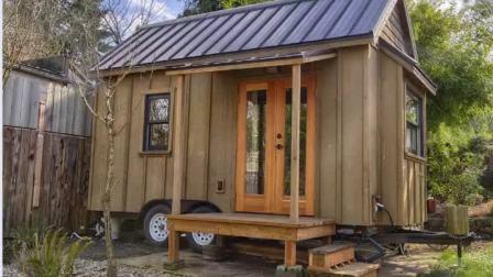 Pequena casa moderna sobre rodas Kit Prefab Móveis Home