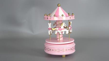 Venda por grosso de Natal iluminado decoração carrossel girando Round Merry Go Carousel Caixa de música para Kid Dom