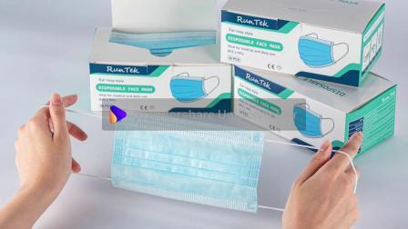 [Free envío desde Alemania Almacén] mascarilla quirúrgica desechable Non-Woven 3 telas al por mayor de la tapa la boca con certificación de CE EN14683