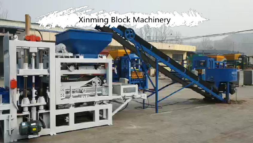 Qt4-20 Bloc de finisseur en pierre à courbettes Hourdis entièrement automatique en béton Automatic machine à fabriquer des briques en Jamaïque