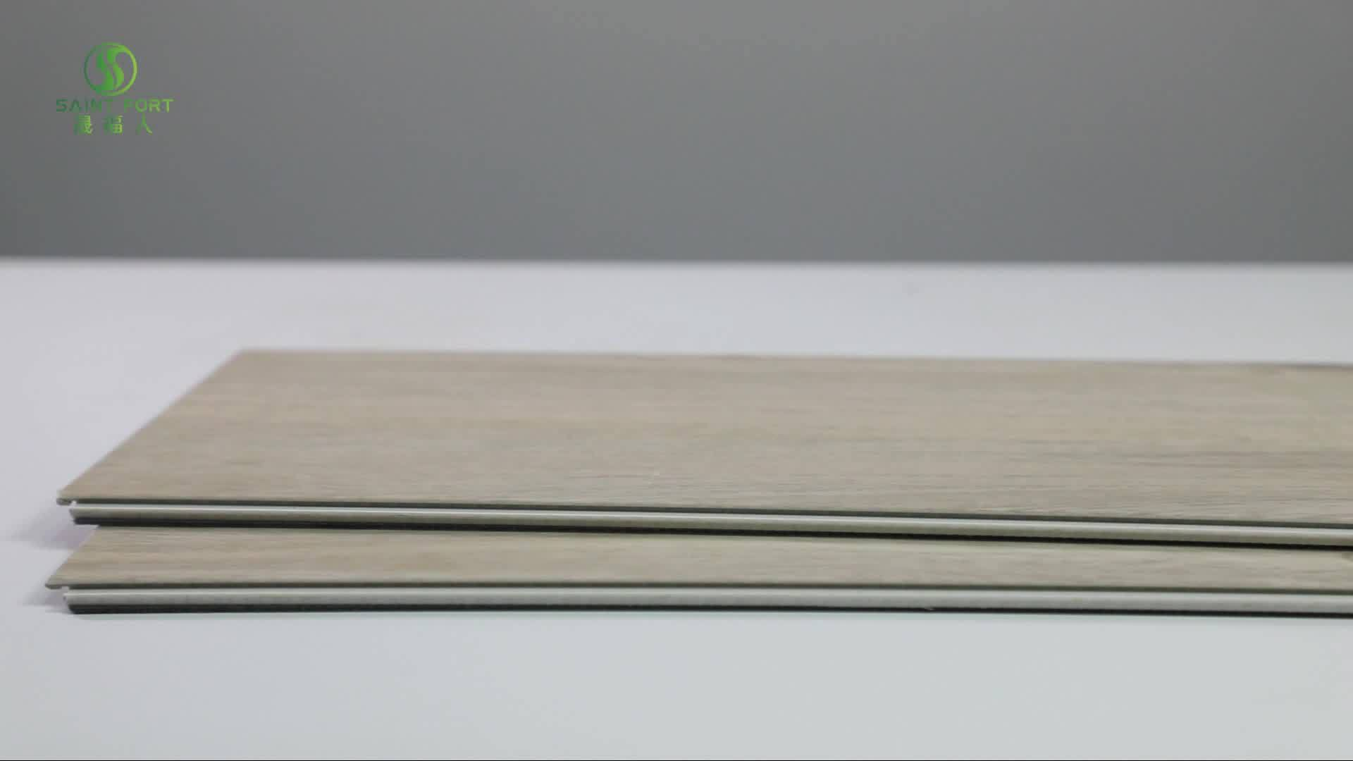 Rígido de alta calidad resistente al agua de grano de madera de colores de varios pisos de PVC de vinilo