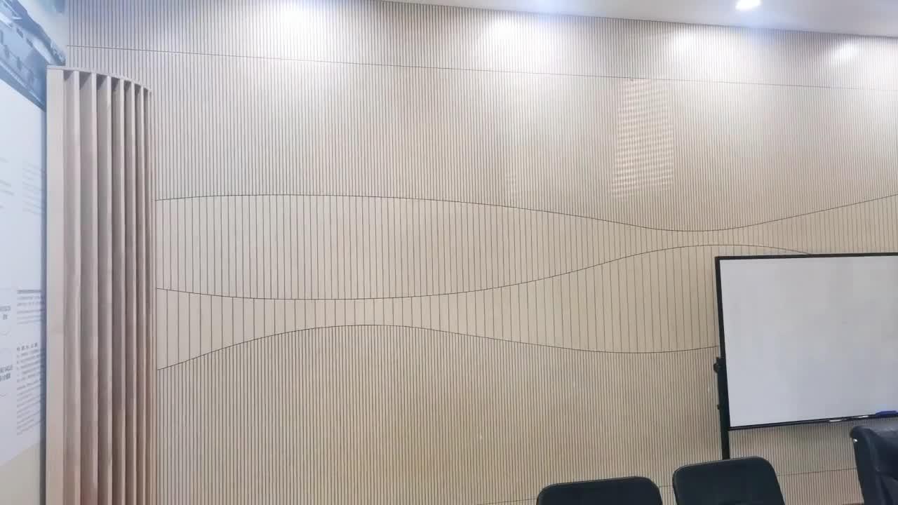 Lärmschutz oder Geräuschreduzierung MDF Holz gerillte Wandplatte