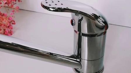 Singola maniglia d'ottone del miscelatore uno del rubinetto del dispersore di cucina del bicromato di potassio della maniglia