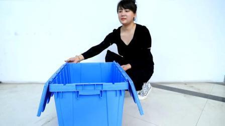Contenitore per stoccaggio in plastica industriale di alta qualità scatola in plastica mobile con Coperchio
