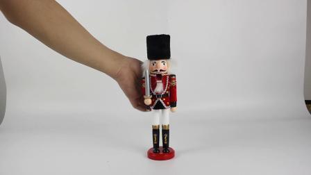 OEM van de Fabriek BSCI de Hand schilderde In het groot Houten Notekraker Solider voor de Decoratie van Kerstmis