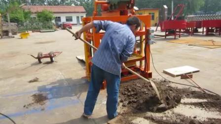 Qt4-40 bloc manuel machine machine à fabriquer des blocs creux Finisseur de béton caler la machine