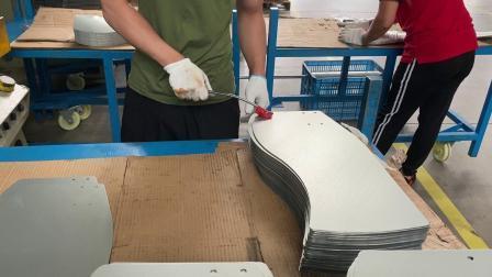 Parte del asiento de ferrocarril de Acero, Revestimiento de polvo de fabricación de láminas de metal