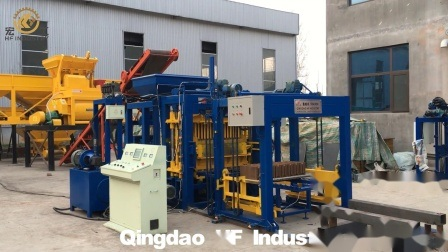 Qt5-15 entièrement automatique machine à fabriquer des blocs de béton en Zambie