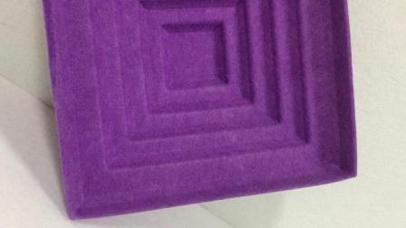 Polyester Faser Oberflächendekoration Acoustic 3D Panel Manufactor